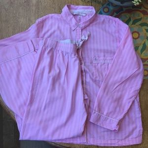 Victoria Secret Pink Striped Pajama set